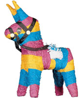 Bash the Pinata at your birthday bash from just 12.95 or find pin the tail on the donkey and other party games.  Choose your loot bags and fill them from our range of value pocket money toys