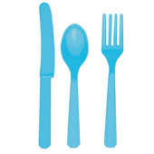Caribbean Blue Cutlery Set.<p></p>